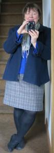 Blaue Jacke vorne