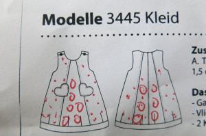 Bizzkid Kinderkleid Technische Zeichnung