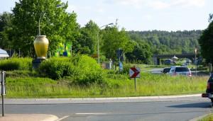 Kreisel Vase  Kreisverkehr