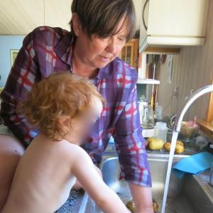 Kochen mit Enkelin