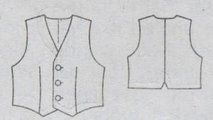 Weste technische Zeichnung