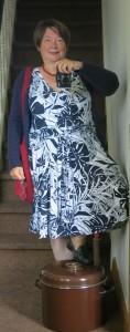 Blauweißes Sommerkleid