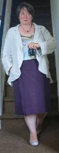 Seidensorbetto Jerseyrock Hochzeitsjacke