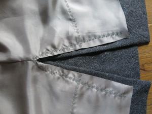 graues Wollkleid Detail