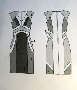 Weihnachtskleid technische Zeichnung
