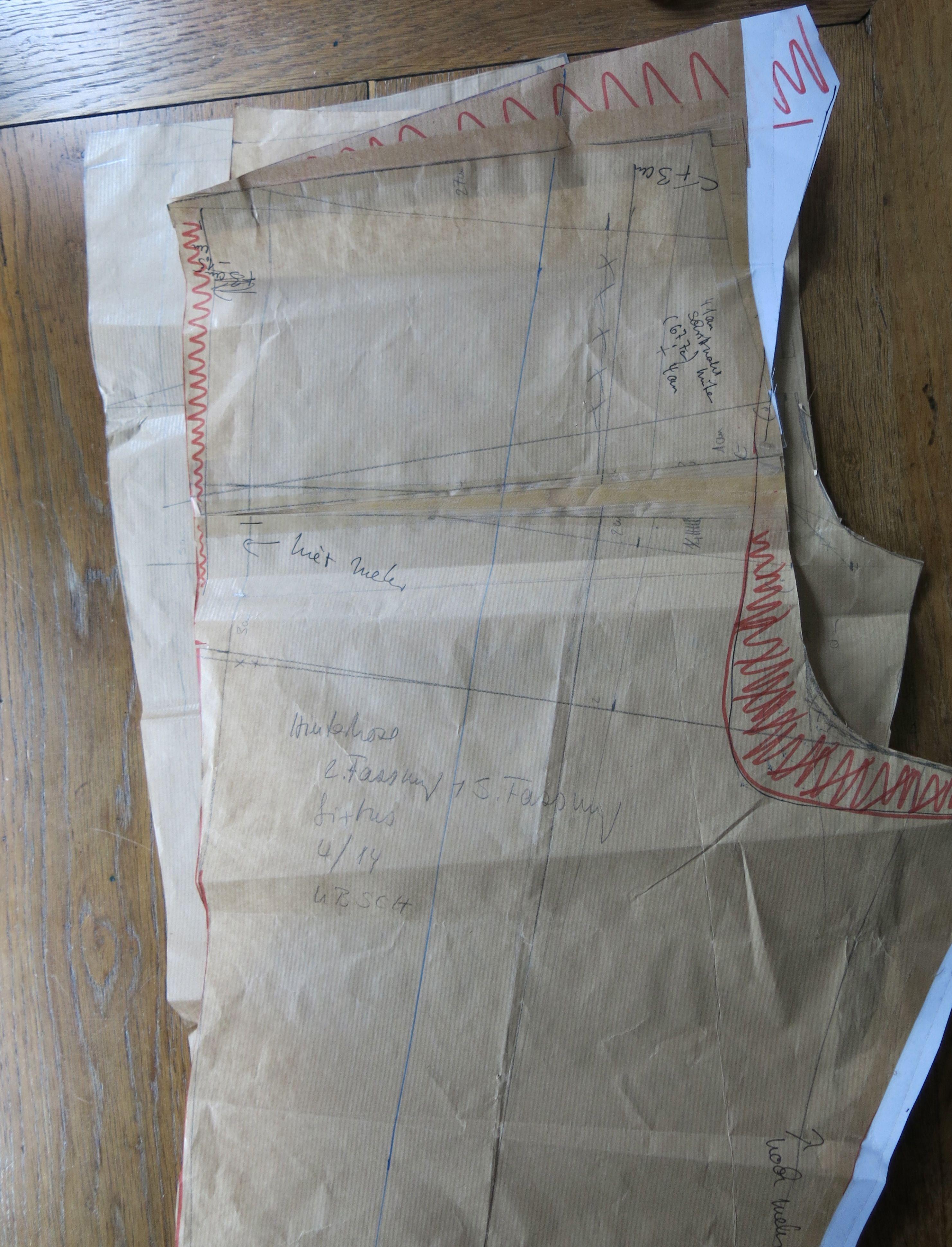 Hosen konstruieren auf Papier 2