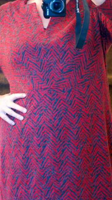 Rotes Kleid Detail