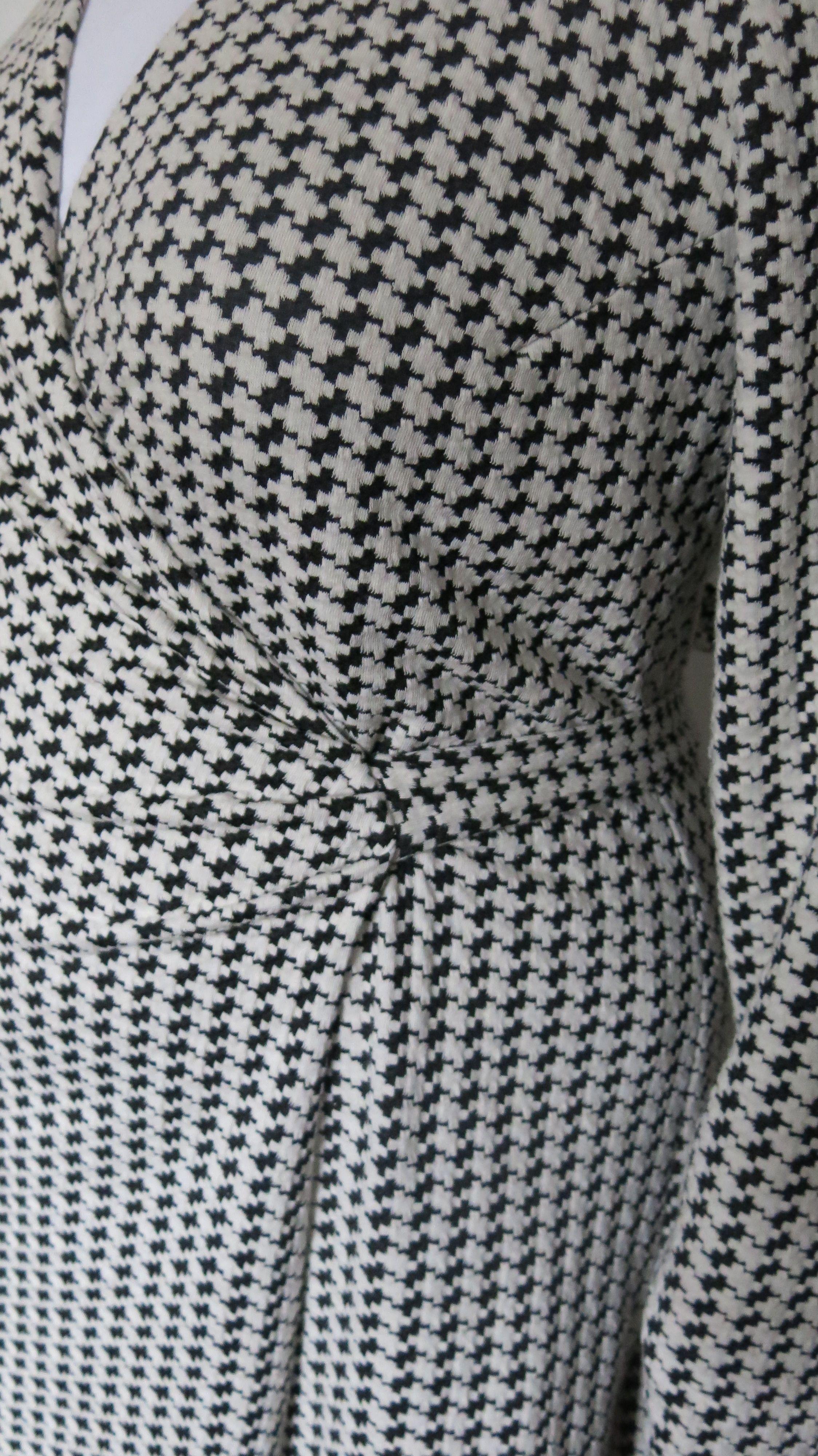 Hahnentrittstrickkleid Detail