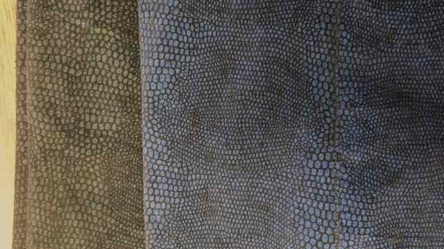 Schlangenhosenstoff Detail