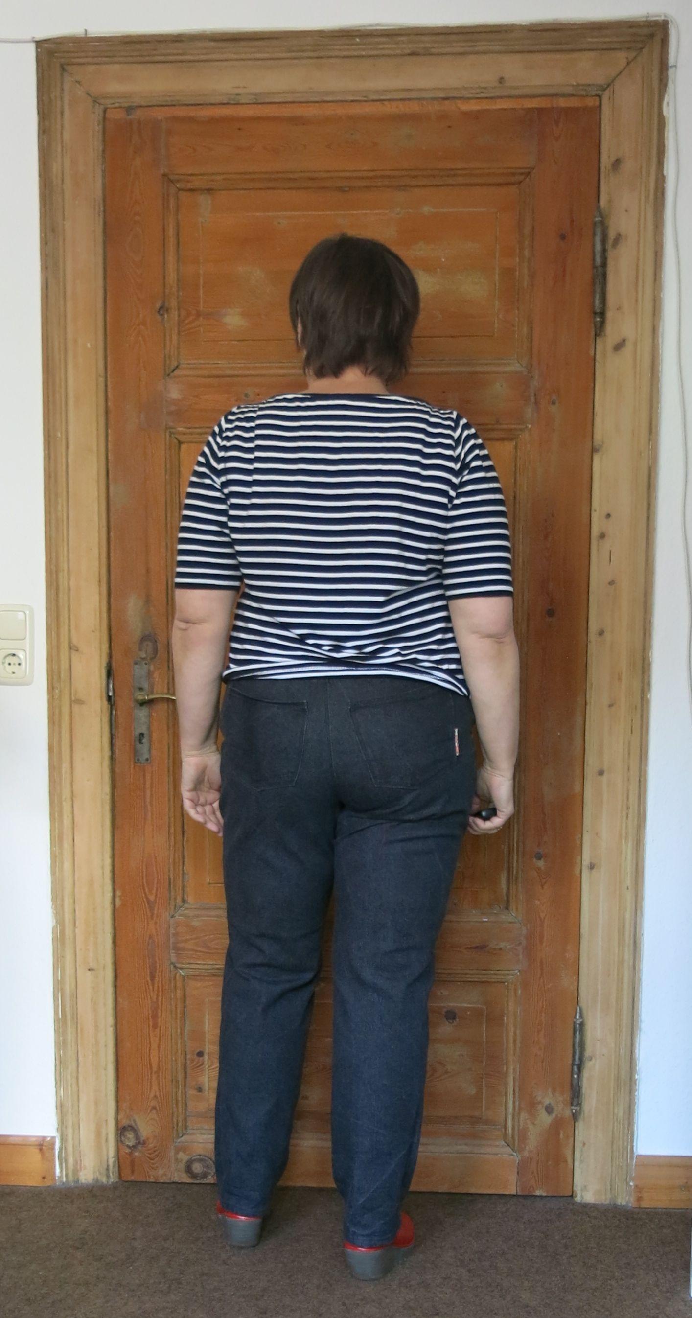 Schwarze Ginger Jeans hinten
