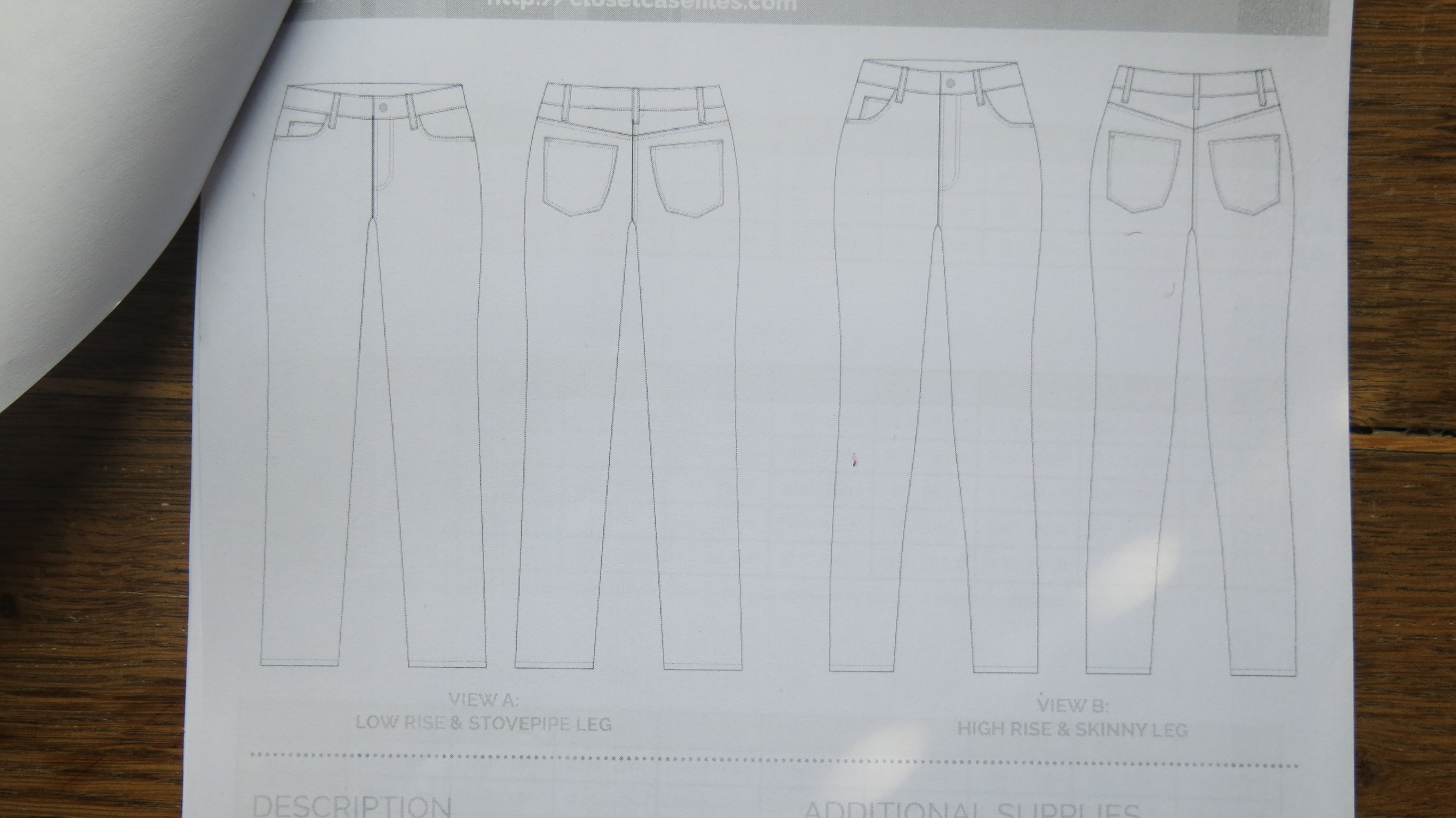 Technische Zeichnung Ginger Jeans