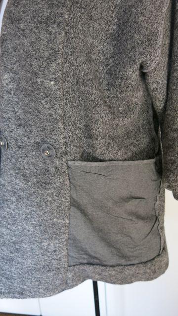 graue Jacke Tasche innensicht