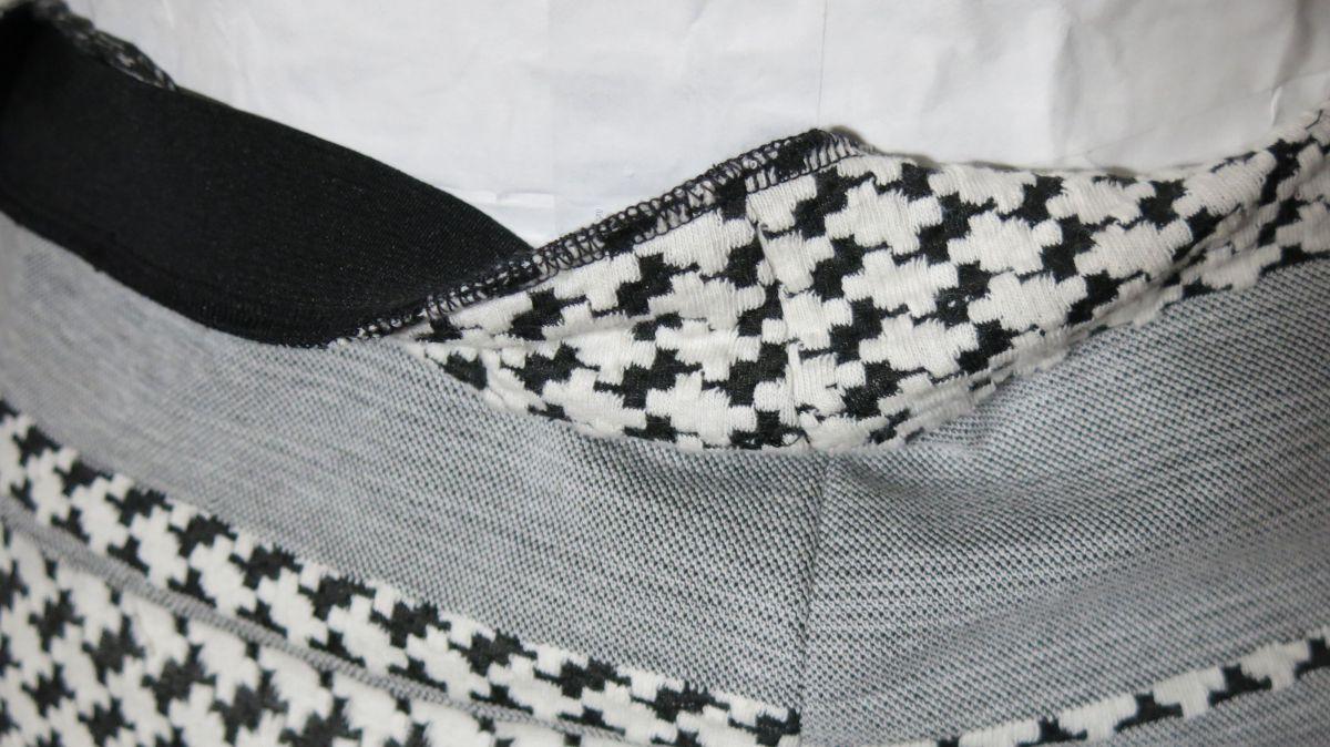 Hahnentrittrock Detail Taillengummi