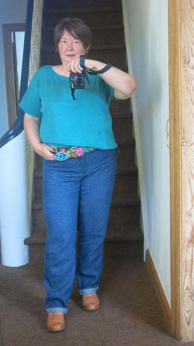 MMM Jeans gruene Absteppung