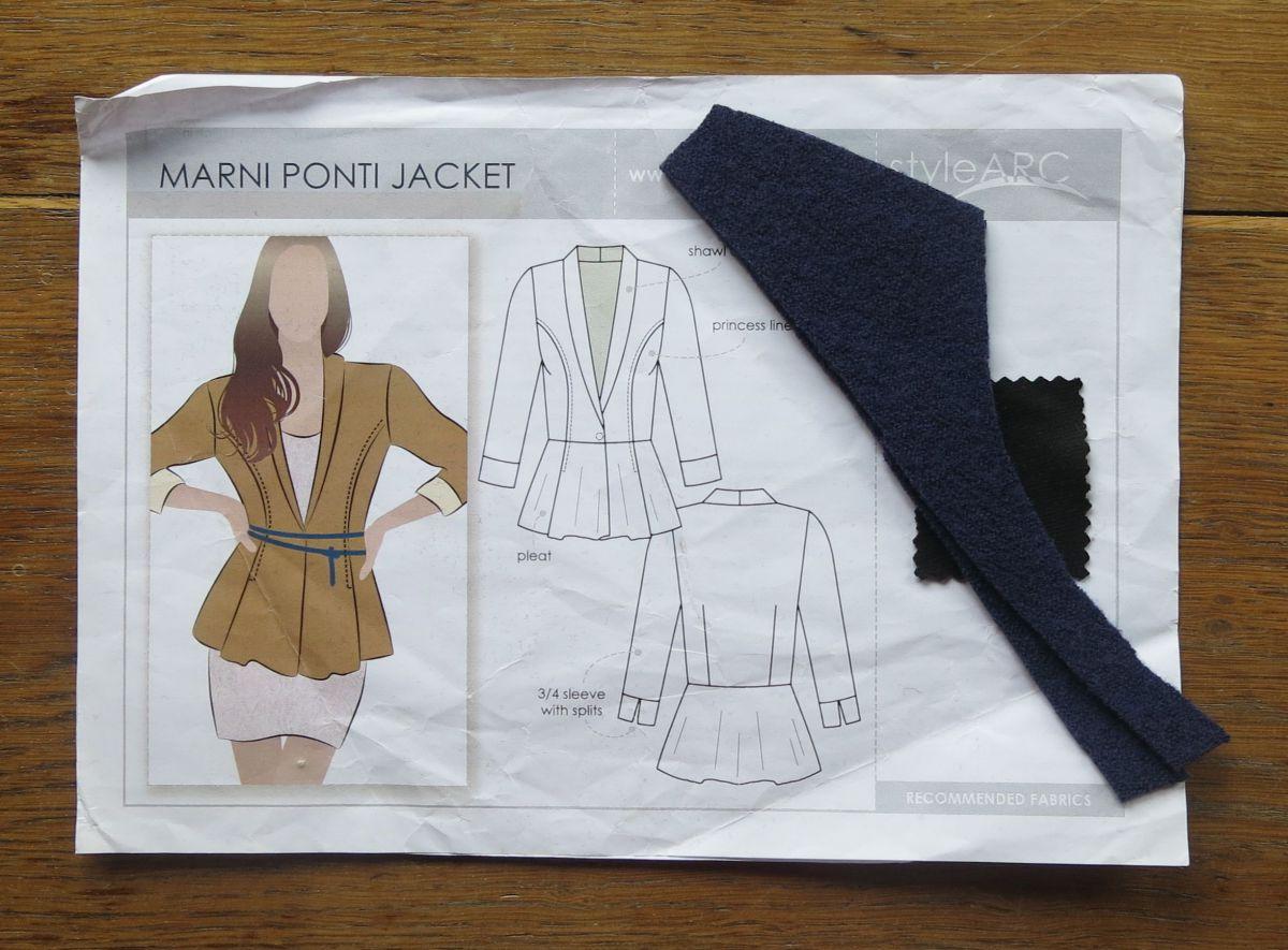 Marni Ponte Jacket Technische Zeichnung