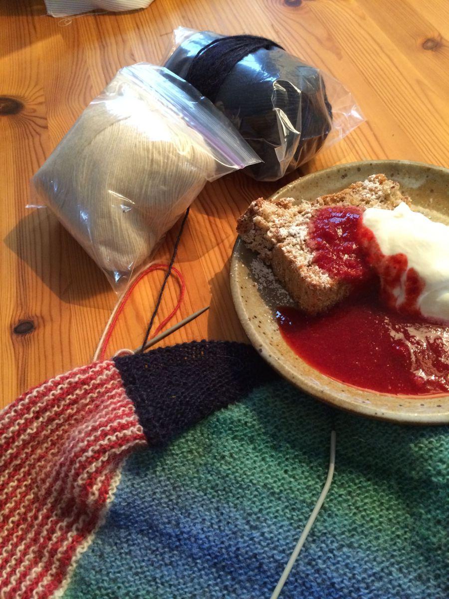 Stricktuch 2. Treffen Kuchen